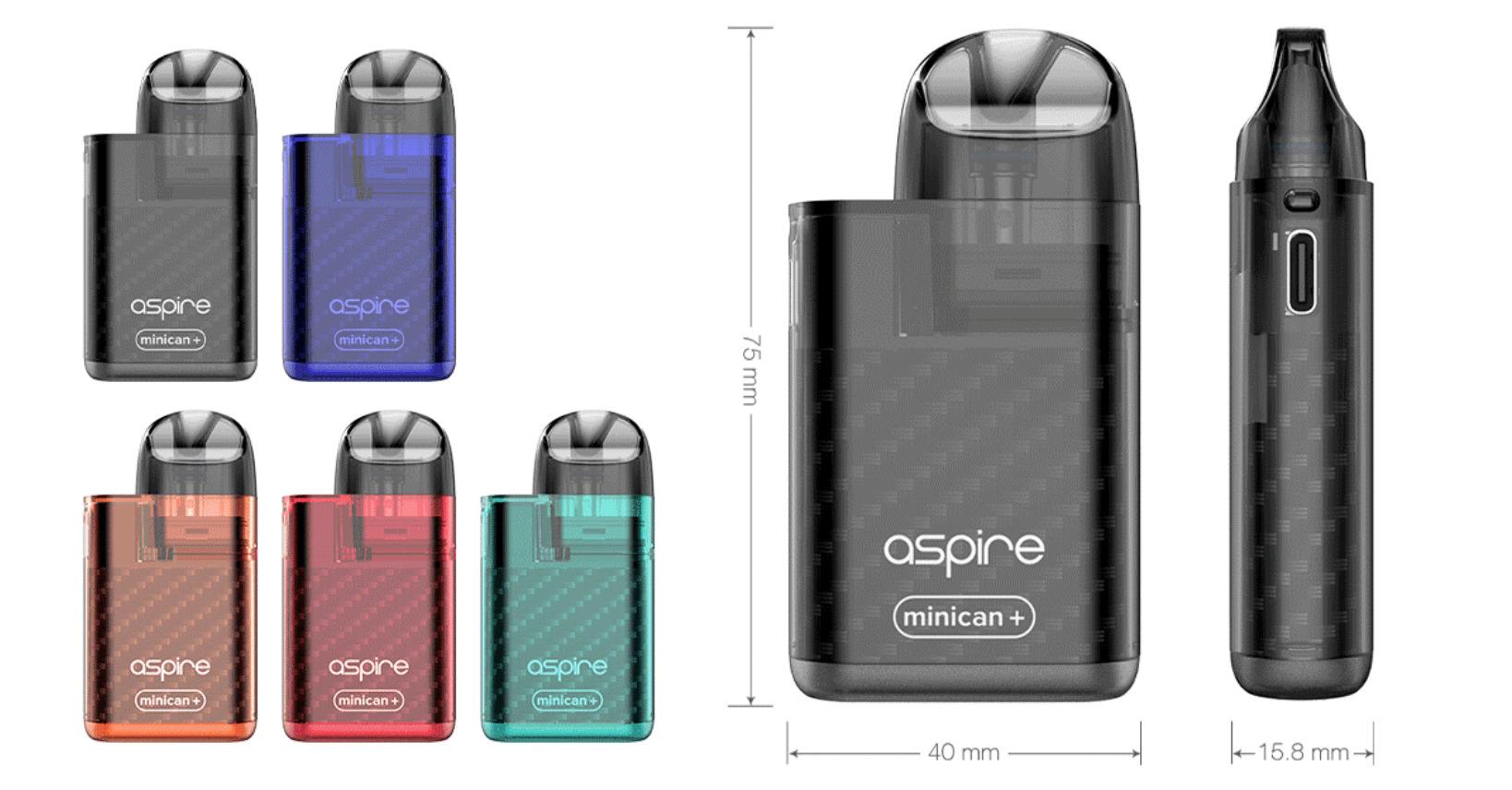 Aspire Minican+(ミニカン プラス)とは?外観や付属品を紹介!