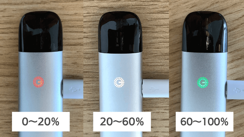 INNOKIN GLIM POD(イノキングリムポッド)のバッテリー残量は光の色で直感的に分かる