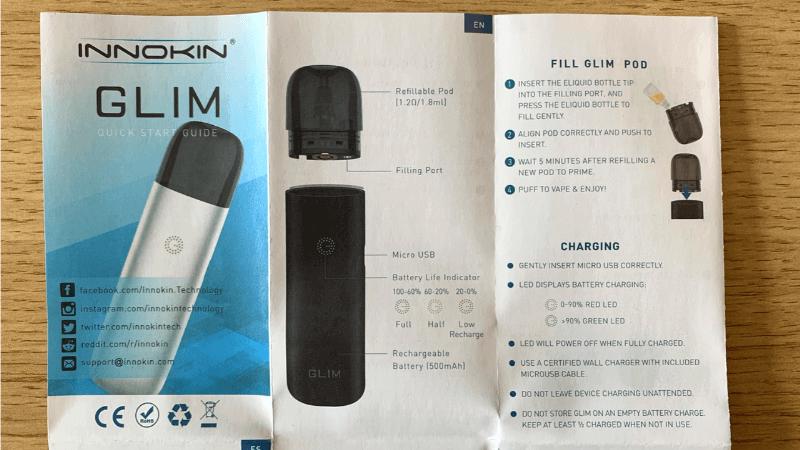 INNOKIN GLIM POD(イノキングリムポッド)の取扱説明書